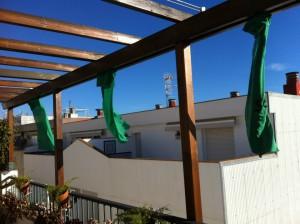 Primavera Verde desde mi terraza en Sitges